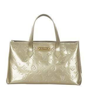 Louis Vuitton Grey Monogram Vernis Wilshire PM Bag