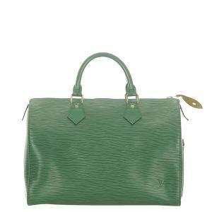 Louis Vuitton Green Epi Leather Speedy 30 Bag