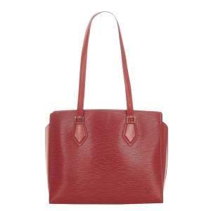 Louis Vuitton Red Epi Leather Duplex Bag