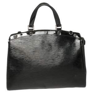 حقيبة لوي فيتون بريا جلد إيبي أسود أليكتريك