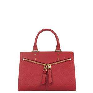 Louis Vuitton Red Leather Sully Tote Bag
