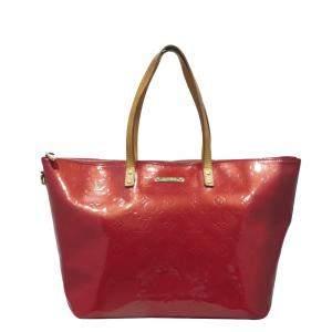 Louis Vuitton Red Monogram Vernis Bellevue GM Bag