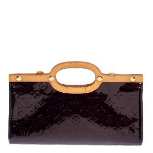 Louis Vuitton Amarante Monogram Vernis Roxbury Drive Bag