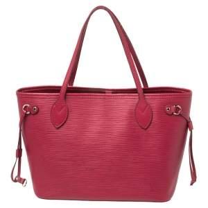 Louis Vuitton Fuchsia Epi Leather Neverfull PM Bag