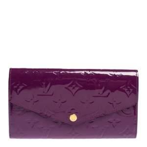 Louis Vuitton Amethyste Monogram Vernis Leather Sarah Wallet