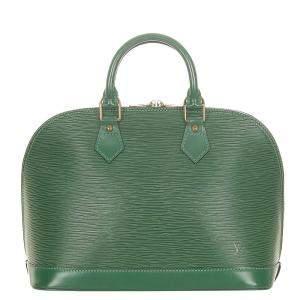 Louis Vuitton Green Epi Leather Alma PM Bag