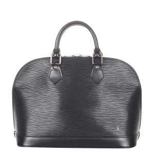 Louis Vuitton Black Epi Leather Alma PM Bag