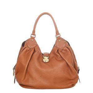 Louis Vuitton Brown Calf Leather Mahina L Hobo