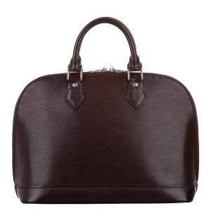 Louis Vuitton Brown Epi Leather Alma PM Bag