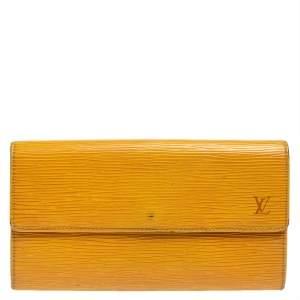 Louis Vuitton Tassel Yellow Epi Leather Porte Tresor International Wallet