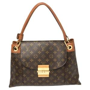 Louis Vuitton Brown Monogram Canvas and Leather Olympe Bag