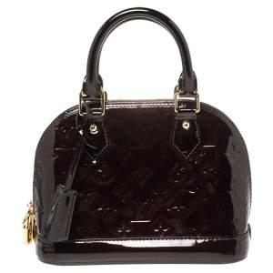 Louis Vuitton Amarante Monogram Vernis Alma BB Bag