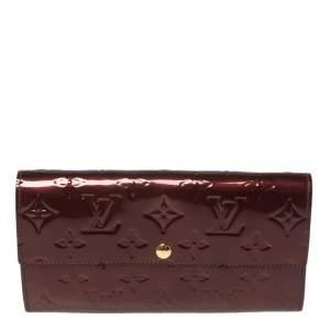 Louis Vuitton Rouge Fauviste Monogram Vernis Leather Sarah Wallet