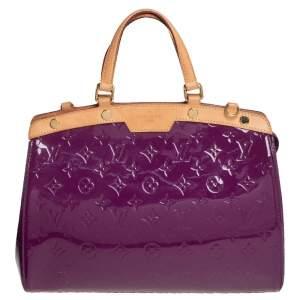 Louis Vuitton Amethyst Monogram Vernis Brea MM Bag