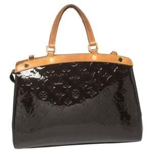 Louis Vuitton Terre D'Ombre Monogram Vernis Brea MM Bag