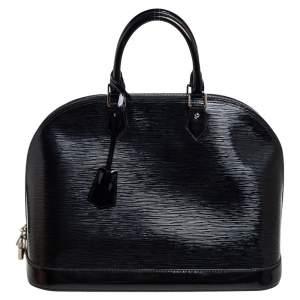 """حقيبة لوي فيتون """"ألما"""" جلد إيبي أسود إليكتريك كبيرة"""