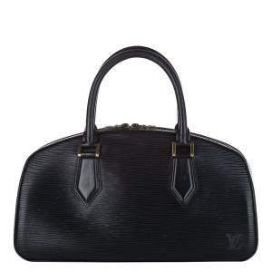 Louis Vuitton Black Epi Leather Jasmin Satchel Bag