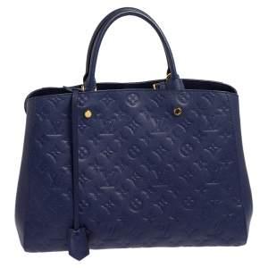 Louis Vuitton Iris Monogram Empreinte Leather Montaigne GM Bag