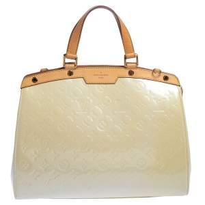 Louis Vuitton Blanc Corail Monogram Vernis Brea GM Bag
