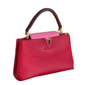 Louis Vuitton Pink/Rose Leather Capucines Top Handle Bag