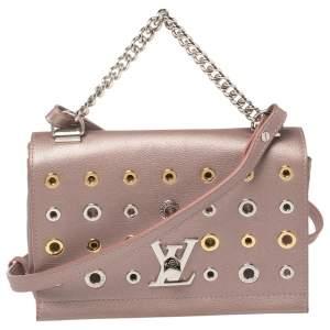 Louis Vuitton Rose Gold Pink Leather Lockme II Eyelets BB Bag