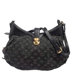 Louis Vuitton Black Monogram Denim XS Bag