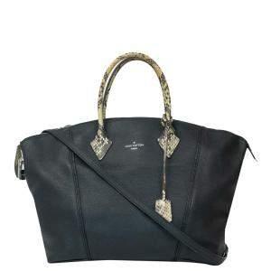 Louis Vuitton Black Leather Soft Lockit Bag