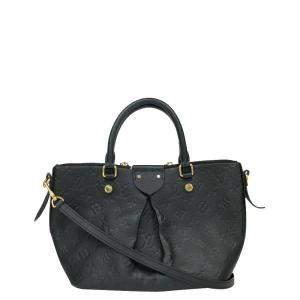 Louis Vuitton Black Empreinte Leather Mazarine Bag