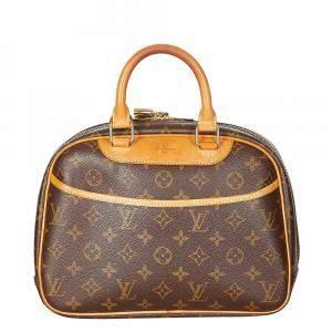 Louis Vuitton Brown Canvas Monogram Deauville Satchel Bag