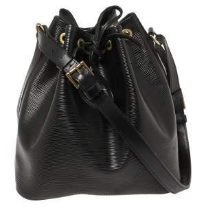 Louis Vuitton Black Epi Leather Petit Noe Bag