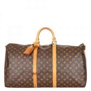 Louis Vuitton Monogram Canvas Keepall 55 Bag