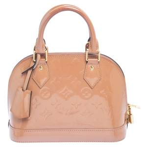 Louis Vuitton Rose Velours Monogram Vernis Alma BB Bag