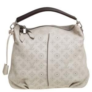 Louis Vuitton White Monogram Mahina Leather Selene PM Bag