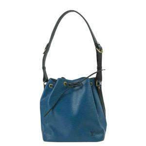 Louis Vuitton Blue Epi Leather Noe Bucket Bag