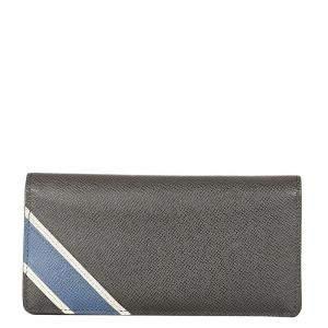 Louis Vuitton Black Taiga Leather Brazza Long Wallet