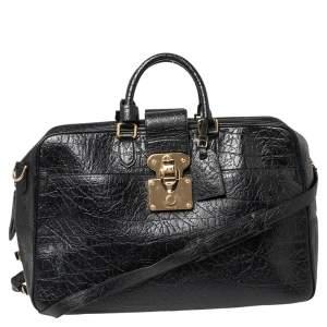 Louis Vuitton Black Cuir Indra Duffel Bag