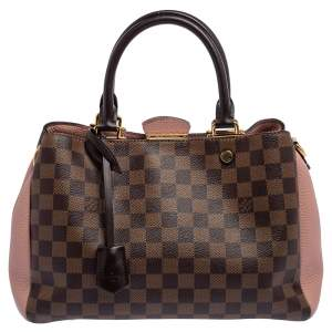 Louis Vuitton Damier Ebene Canvas and Leather Brittany Bag