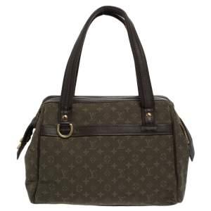 Louis Vuitton Green Monogram Mini Lin Canvas Josephine PM Bag