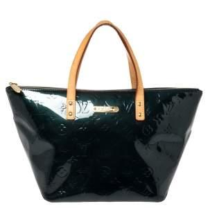 Louis Vuitton Blue Nuit Monogram Vernis Bellevue PM Bag