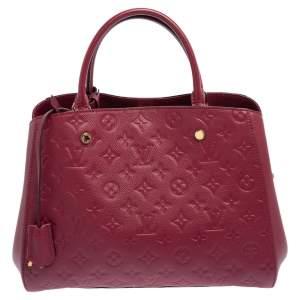 Louis Vuitton Aurore Monogram Empreinte Leather Montaigne MM Bag