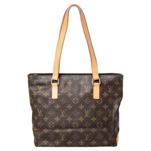 Louis Vuitton Brown Monogram Canvas And Leather Cabas Piano Tote