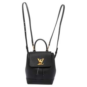 Louis Vuitton Black Calfskin Leather Mini Lockme Backpack