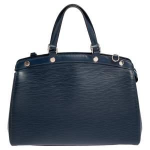 حقيبة لوي فيتون بريه جلد إيبي زرقاء MM