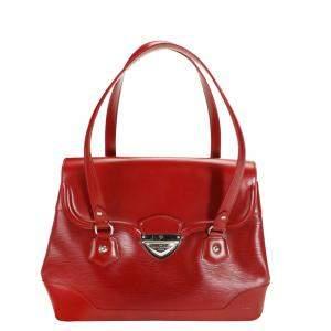 Louis Vuitton Red Epi Leather Bagatelle GM Bag