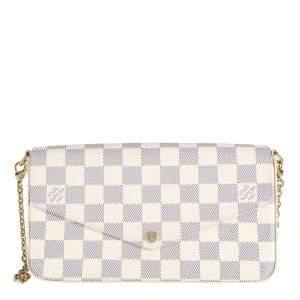 Louis Vuitton Damier Azur Canvas Pochette Félicie Clutch on Chain Bag