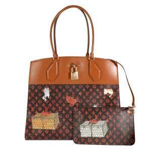 Louis Vuitton Brown Catogram City Steamer Cabas XXL Bag