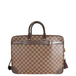 Louis Vuitton Damier Ebene Canvas Porte-Documents Voyage GM Bag