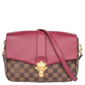 Louis Vuitton Raisin Damier Ebene Canvas Clapton Bag