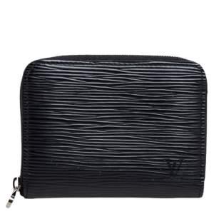 Louis Vuitton Black Epi Leather Zippy Coin Purse
