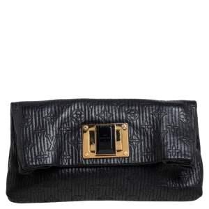 Louis Vuitton Noir Monogram Leather Limited Edition Altair Clutch